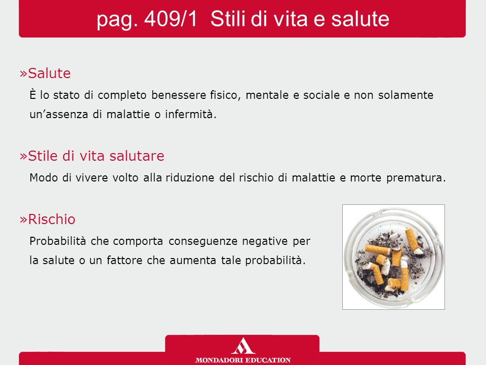 pag. 409/1 Stili di vita e salute