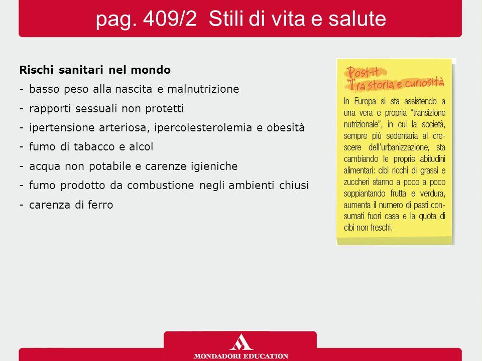 pag. 409/2 Stili di vita e salute