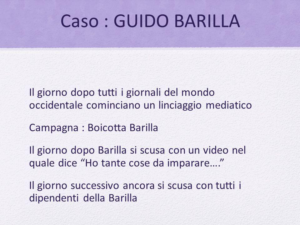 Caso : GUIDO BARILLA