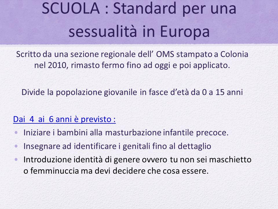 SCUOLA : Standard per una sessualità in Europa