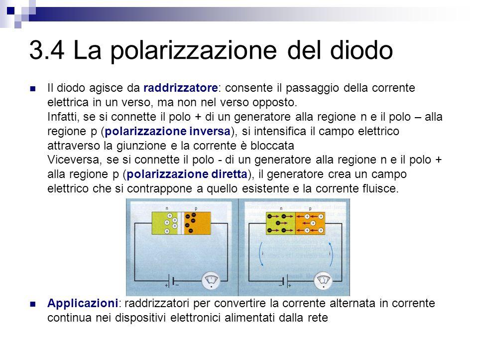3.4 La polarizzazione del diodo