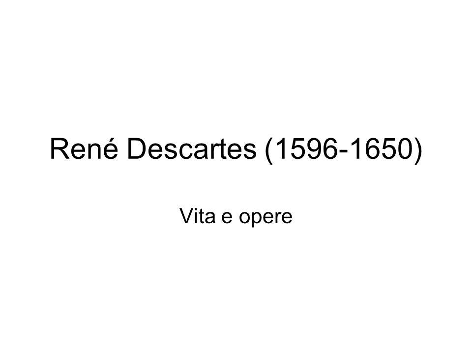 René Descartes (1596-1650) Vita e opere
