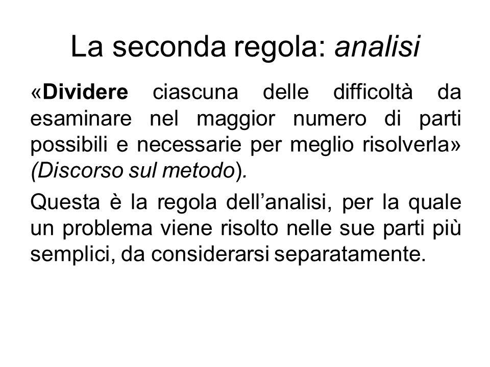 La seconda regola: analisi