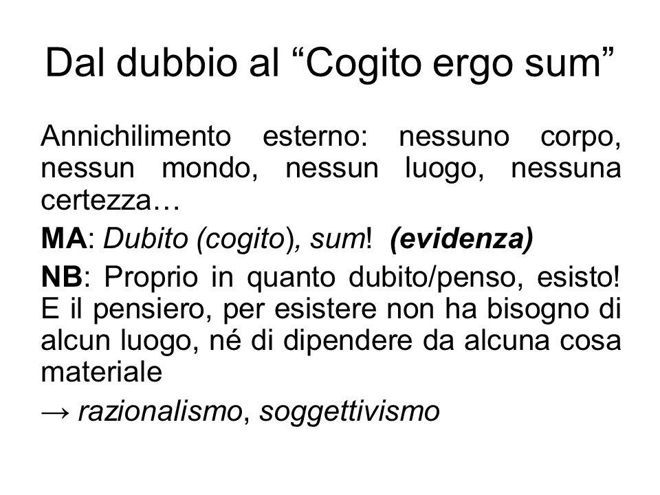 Dal dubbio al Cogito ergo sum