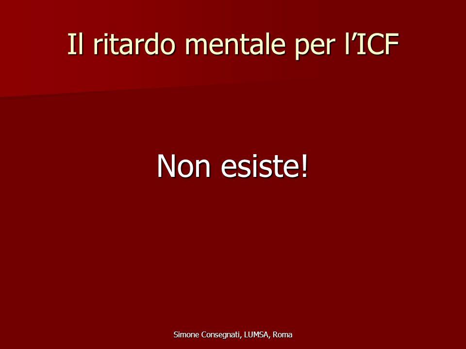 Il ritardo mentale per l'ICF