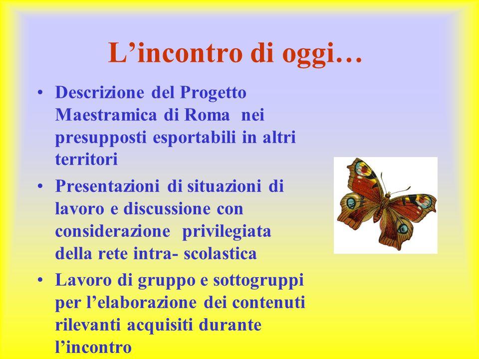 L'incontro di oggi… Descrizione del Progetto Maestramica di Roma nei presupposti esportabili in altri territori.