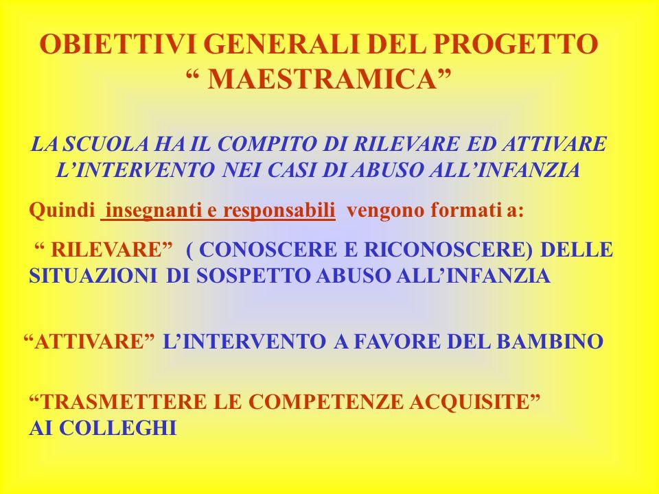 OBIETTIVI GENERALI DEL PROGETTO MAESTRAMICA