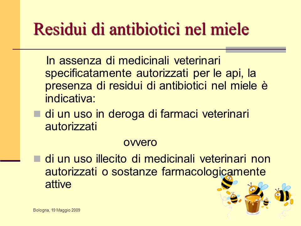 Residui di antibiotici nel miele