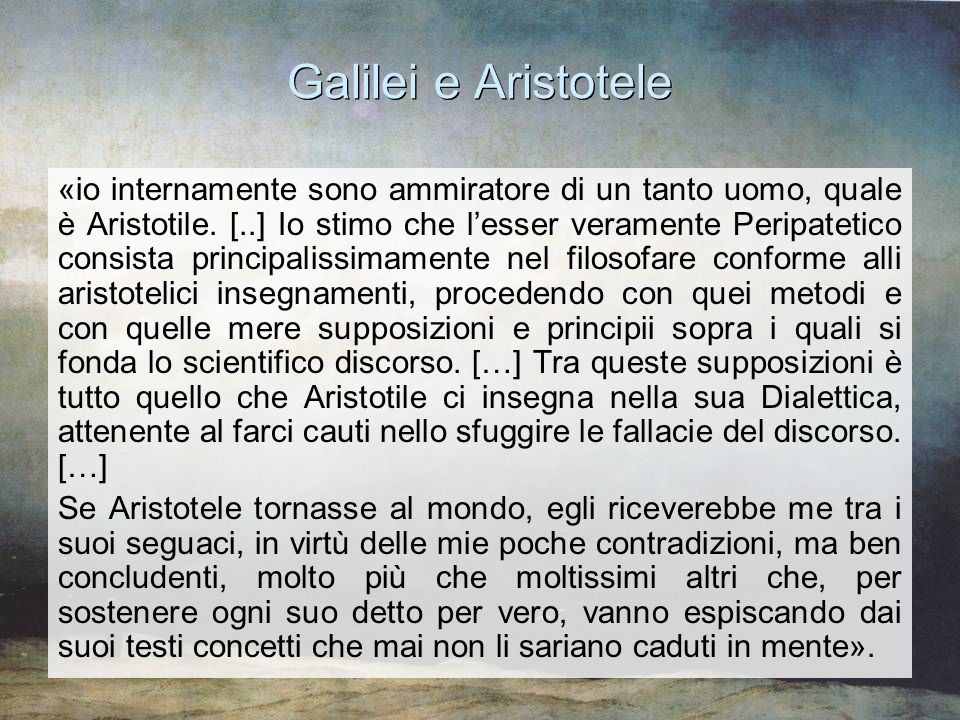 Galilei e Aristotele
