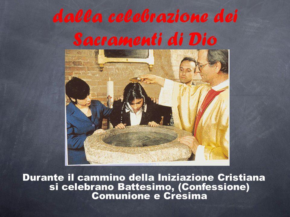 dalla celebrazione dei Sacramenti di Dio