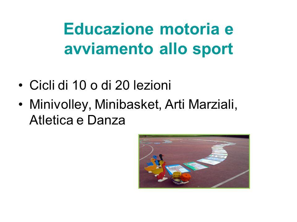 Educazione motoria e avviamento allo sport