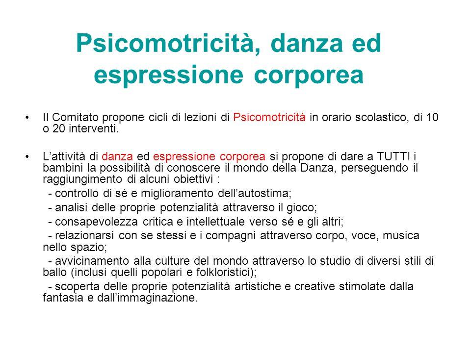 Psicomotricità, danza ed espressione corporea