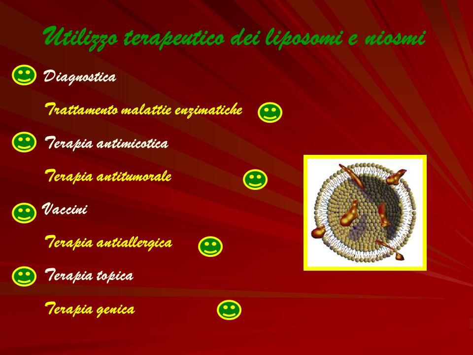 Utilizzo terapeutico dei liposomi e niosmi