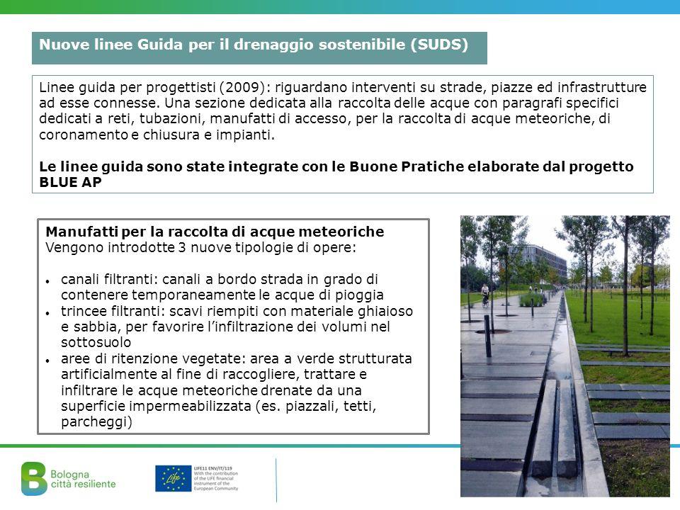 Nuove linee Guida per il drenaggio sostenibile (SUDS)