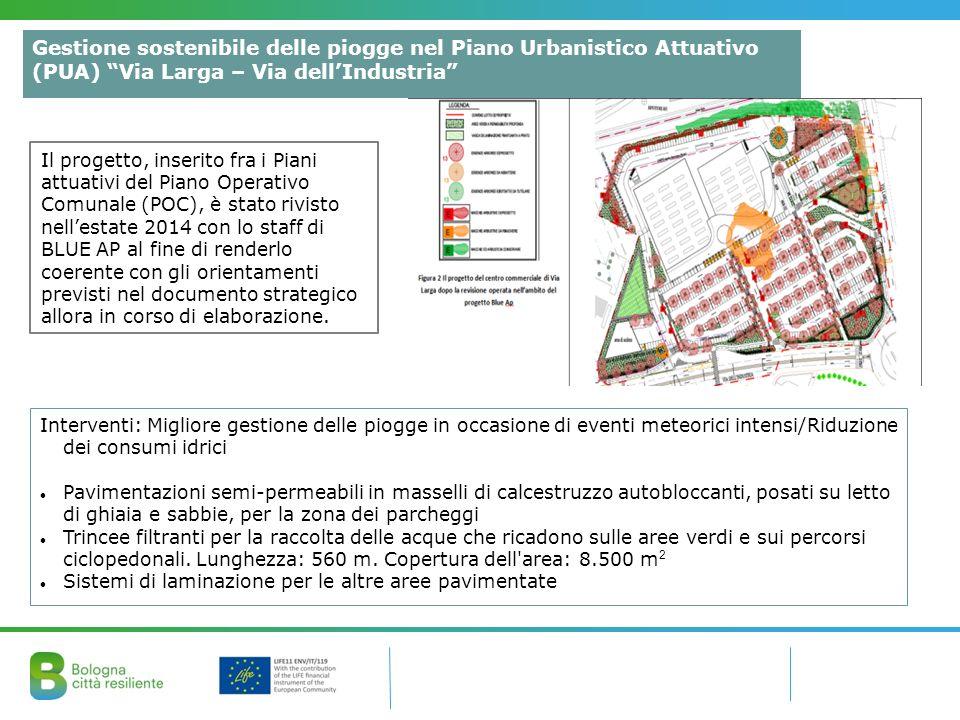 Gestione sostenibile delle piogge nel Piano Urbanistico Attuativo (PUA) Via Larga – Via dell'Industria