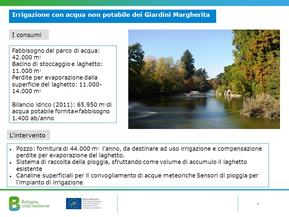 Irrigazione con acqua non potabile dei Giardini Margherita