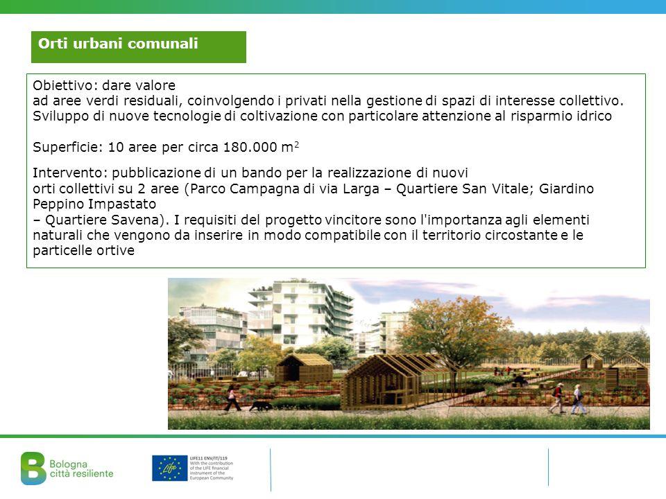 Orti urbani comunali Obiettivo: dare valore