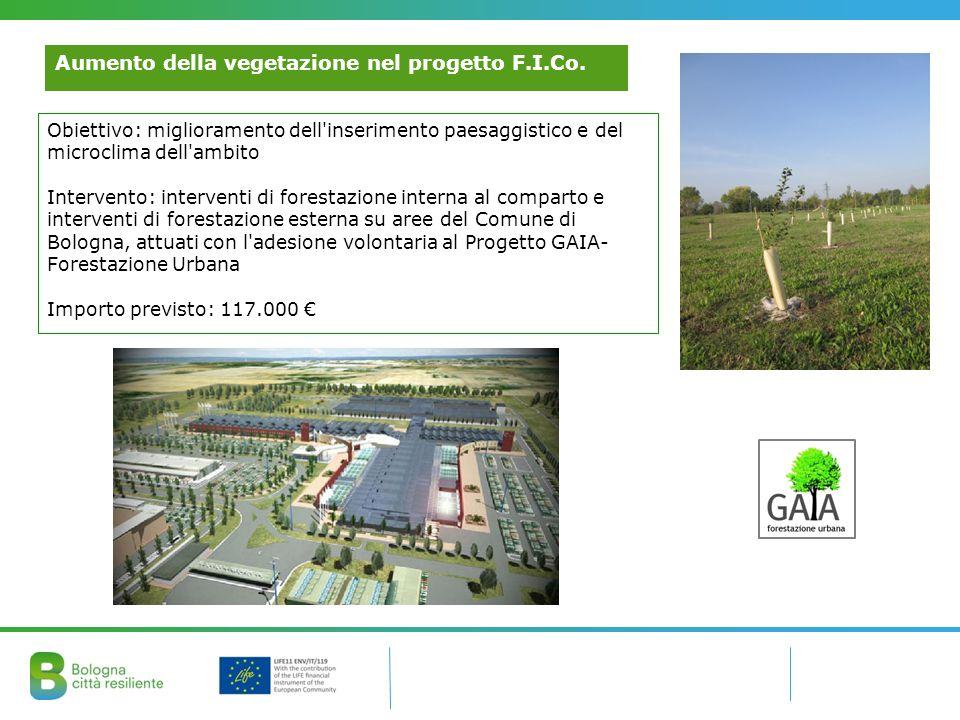 Aumento della vegetazione nel progetto F.I.Co.
