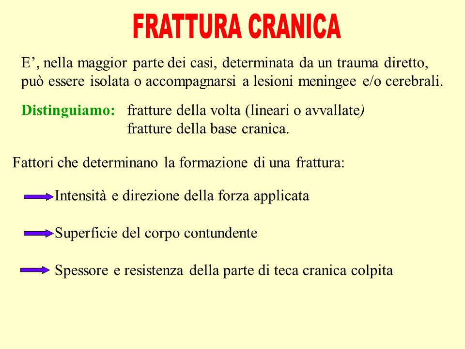 FRATTURA CRANICA