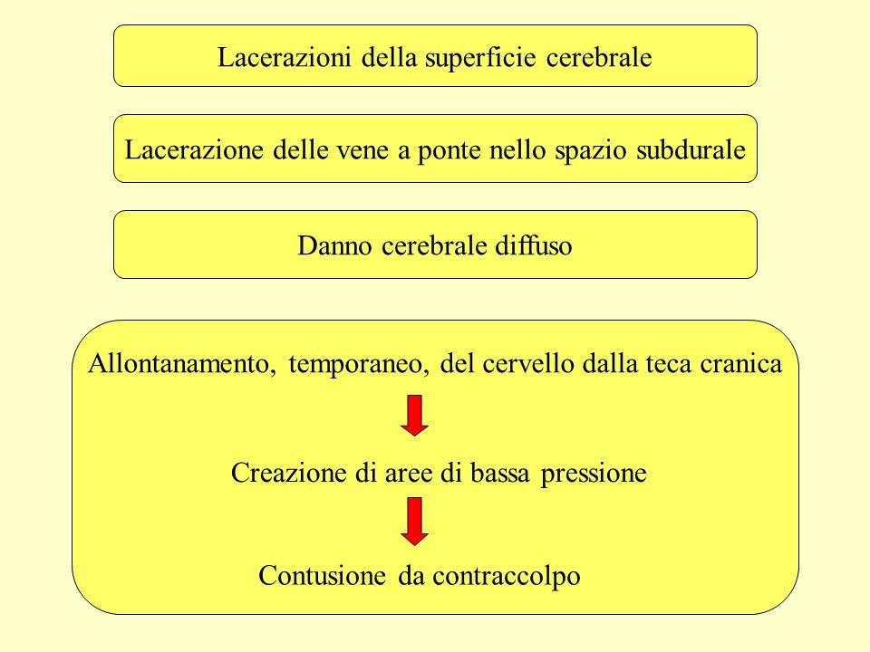 Lacerazioni della superficie cerebrale