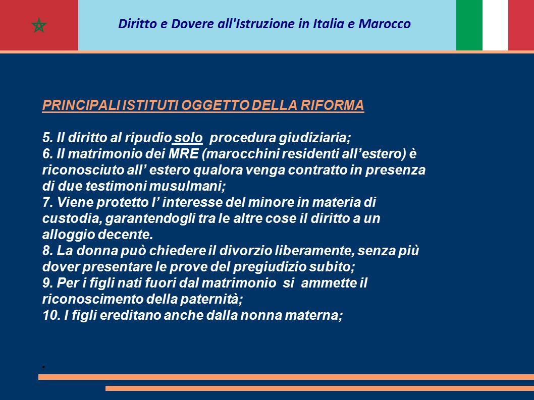 PRINCIPALI ISTITUTI OGGETTO DELLA RIFORMA 5