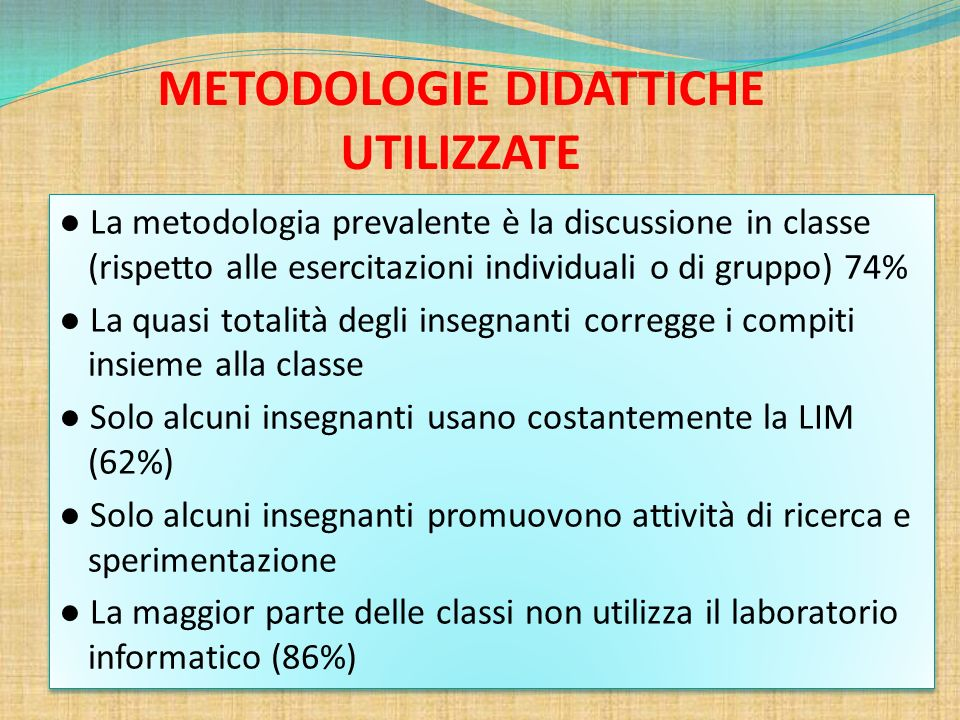METODOLOGIE DIDATTICHE UTILIZZATE