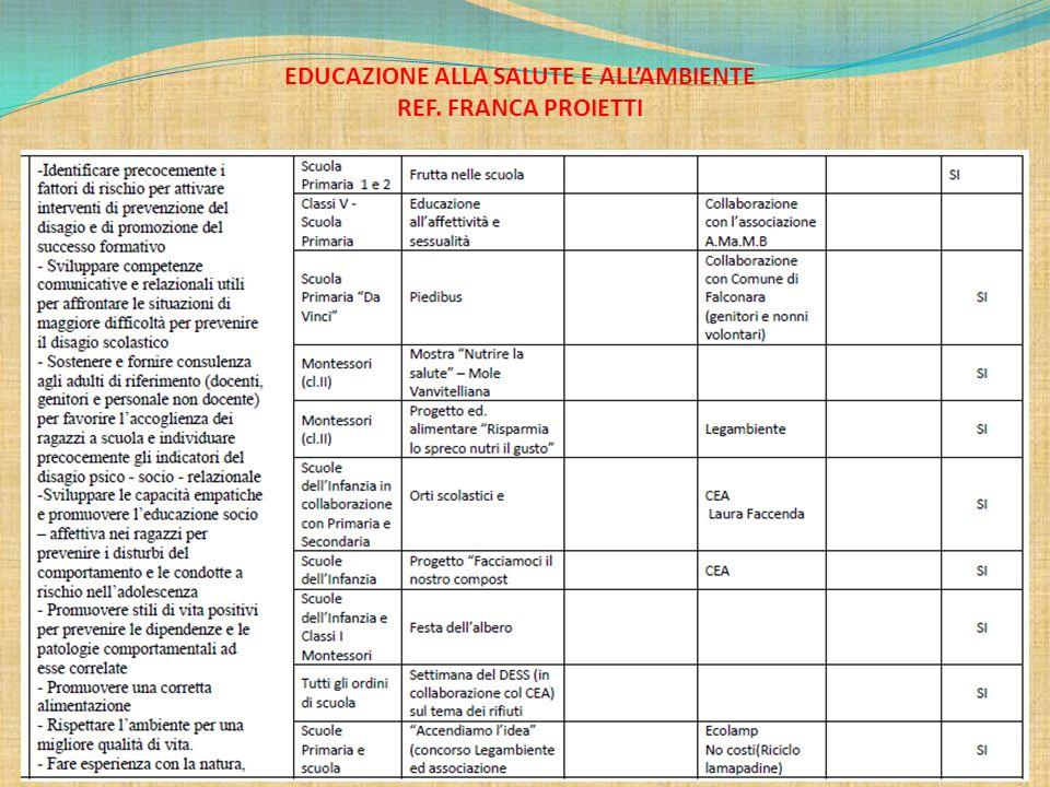 EDUCAZIONE ALLA SALUTE E ALL'AMBIENTE