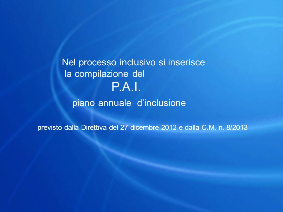piano annuale d'inclusione