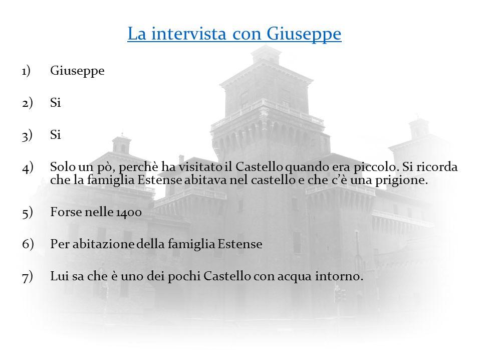 La intervista con Giuseppe