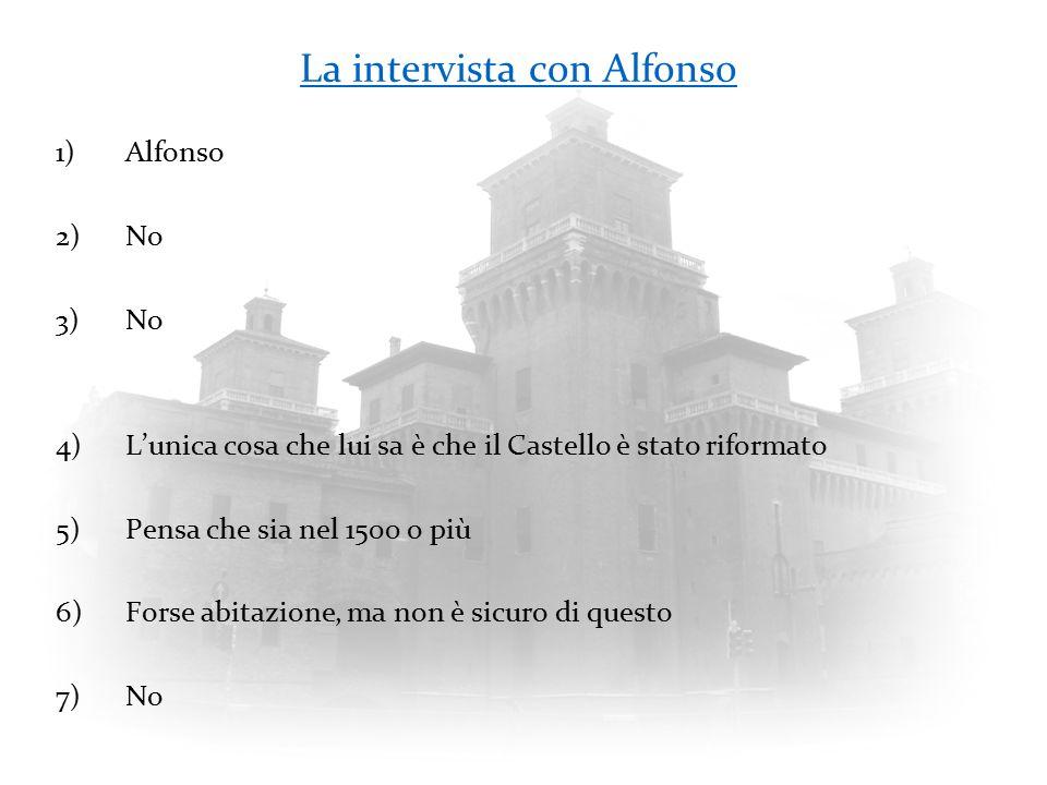 La intervista con Alfonso