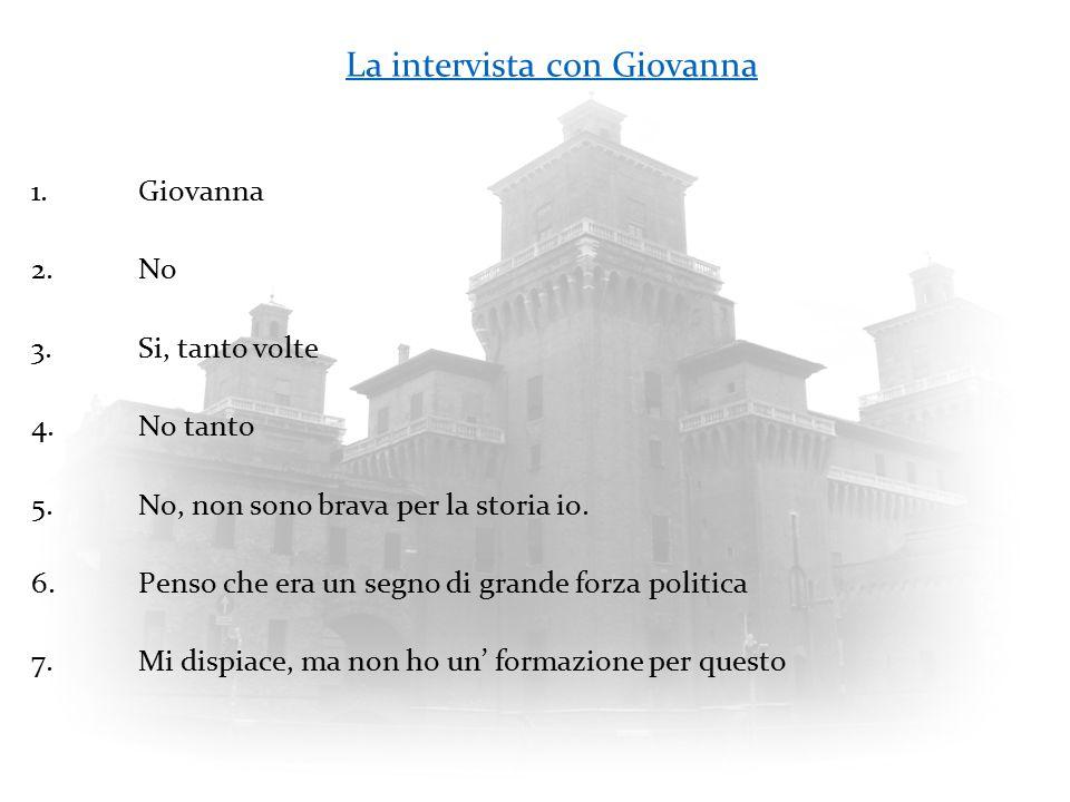 La intervista con Giovanna