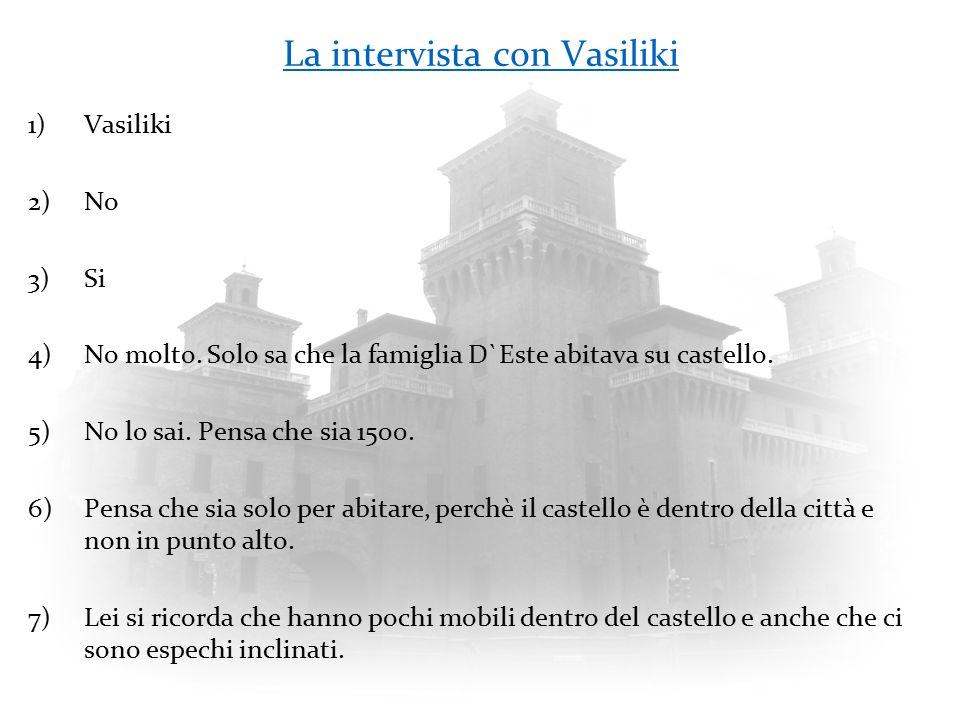 La intervista con Vasiliki