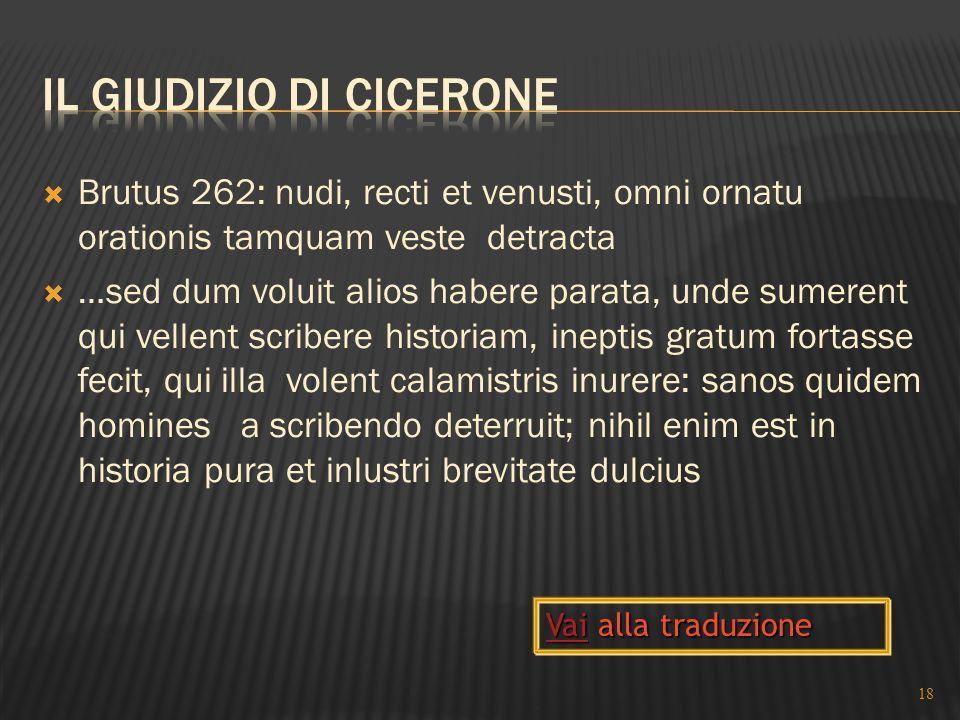 Il giudizio di Cicerone