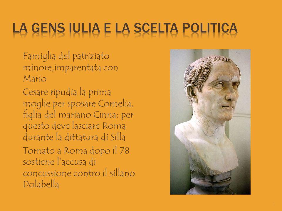 La gens Iulia e la scelta politica