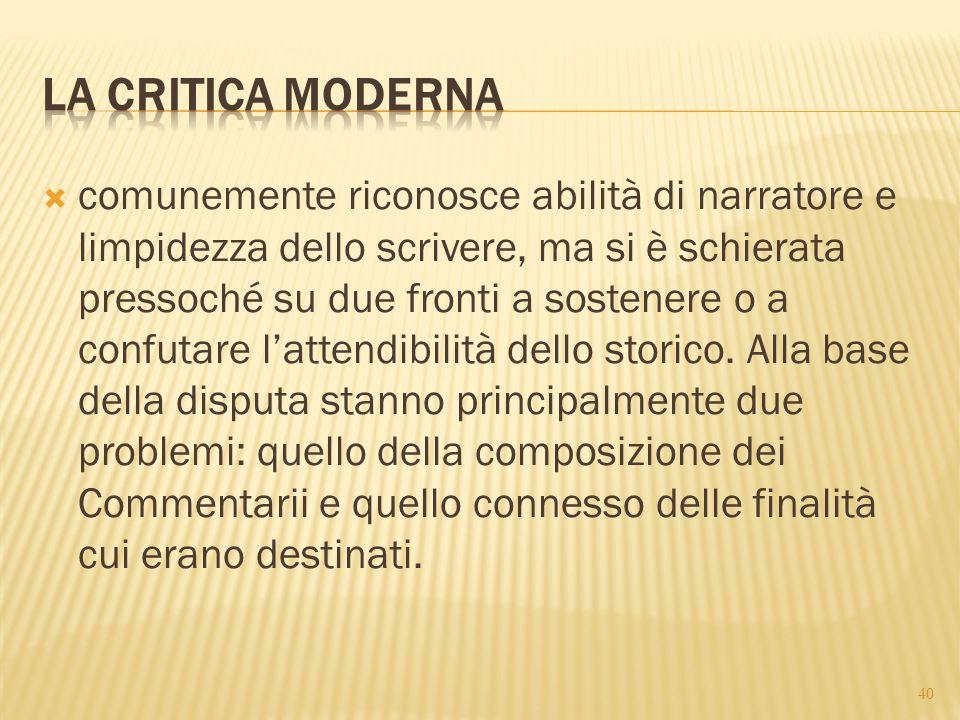 La critica moderna