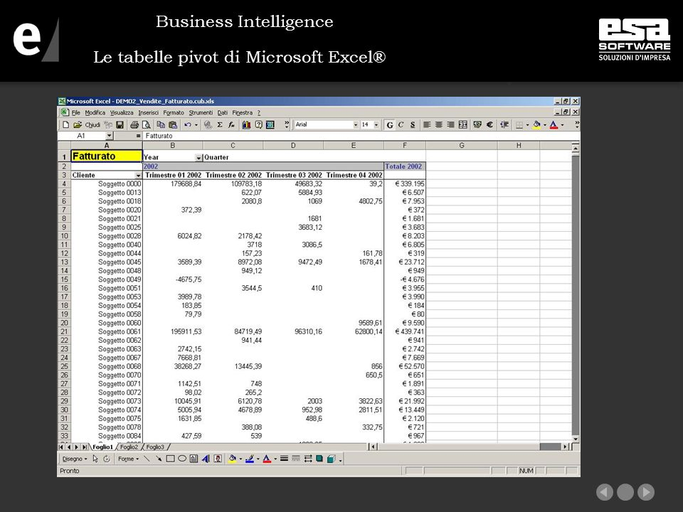 Le tabelle pivot di Microsoft Excel®