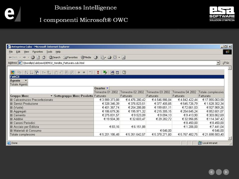 I componenti Microsoft® OWC