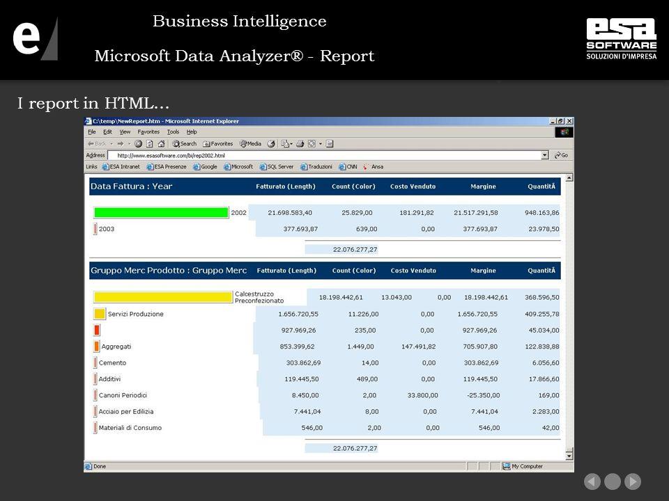 Microsoft Data Analyzer® - Report