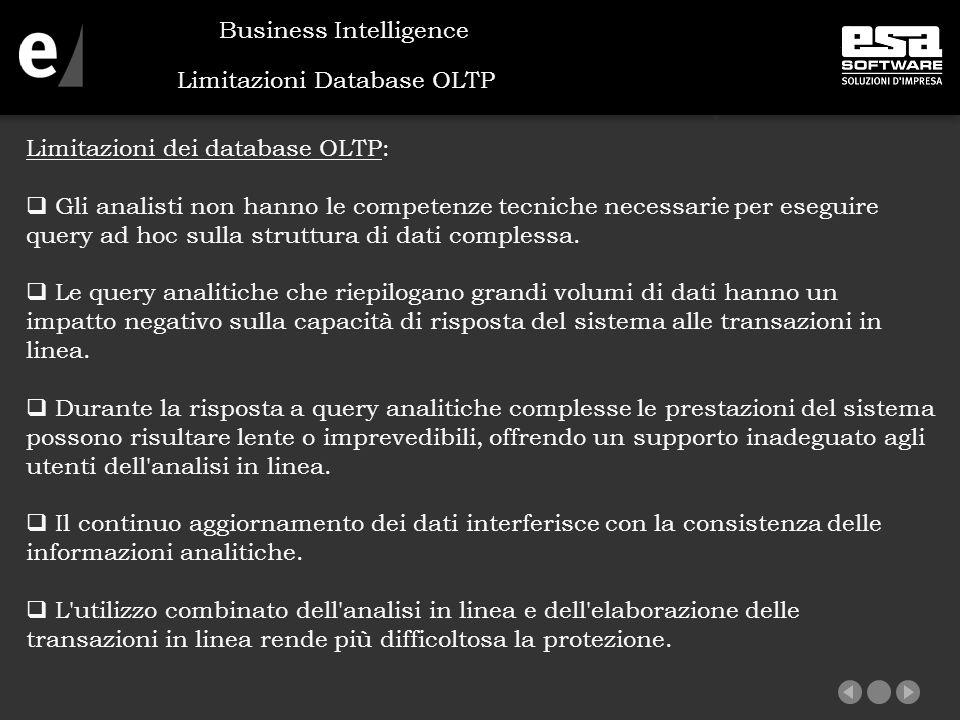 Limitazioni Database OLTP