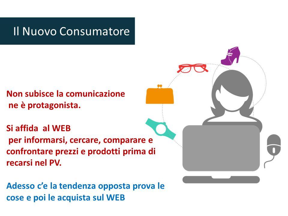 Il Nuovo Consumatore Non subisce la comunicazione ne è protagonista.
