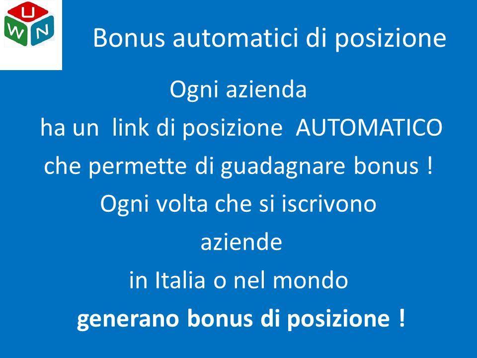 Bonus automatici di posizione