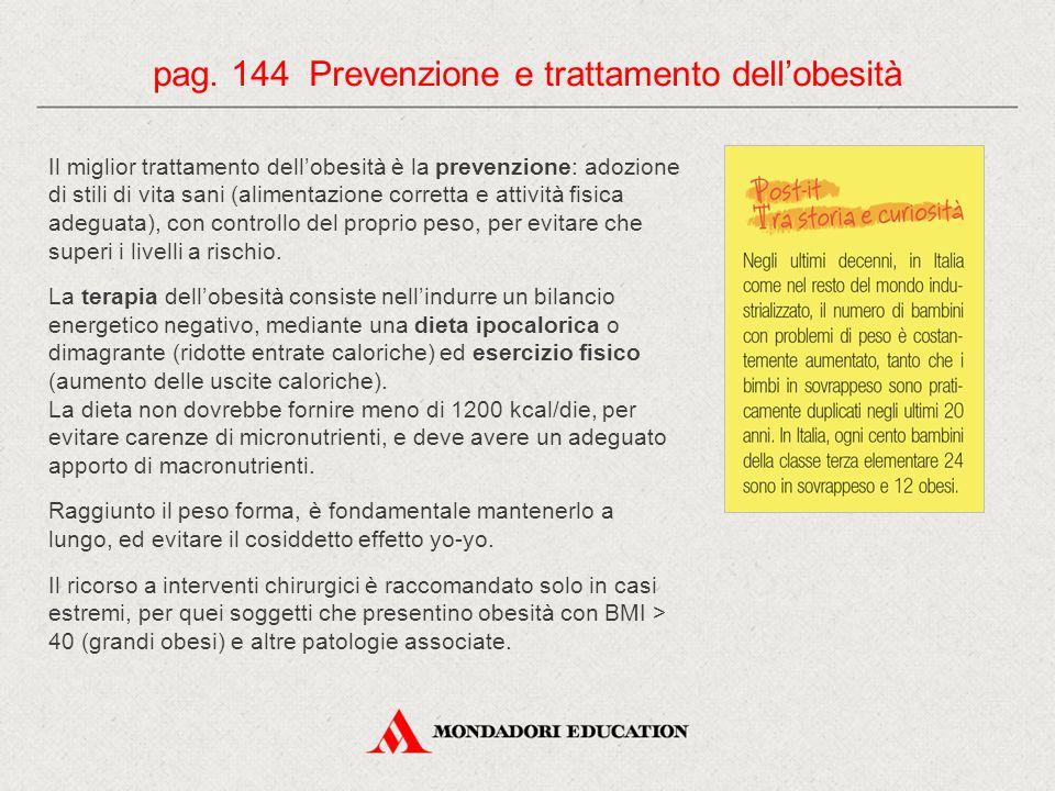 pag. 144 Prevenzione e trattamento dell'obesità