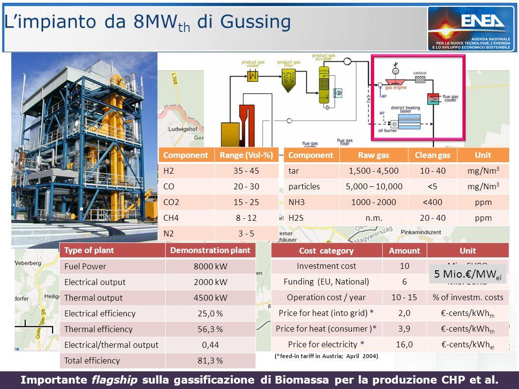 L'impianto da 8MWth di Gussing