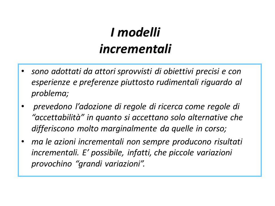 I modelli incrementali