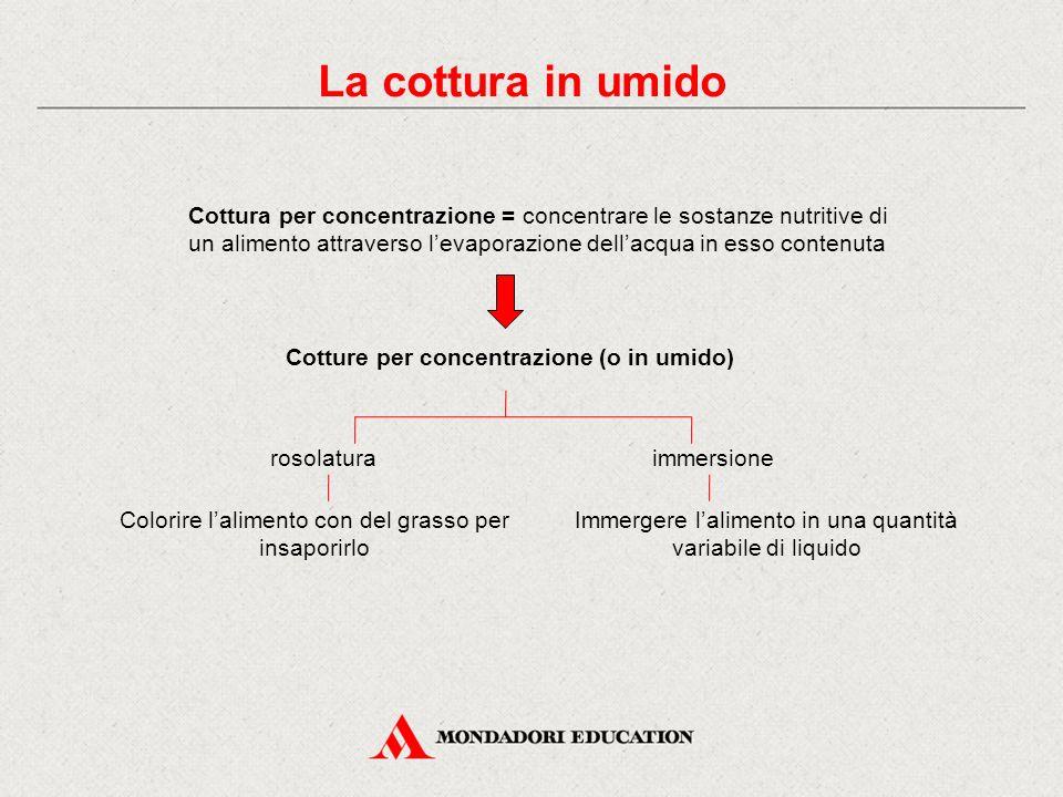 Cotture per concentrazione (o in umido)