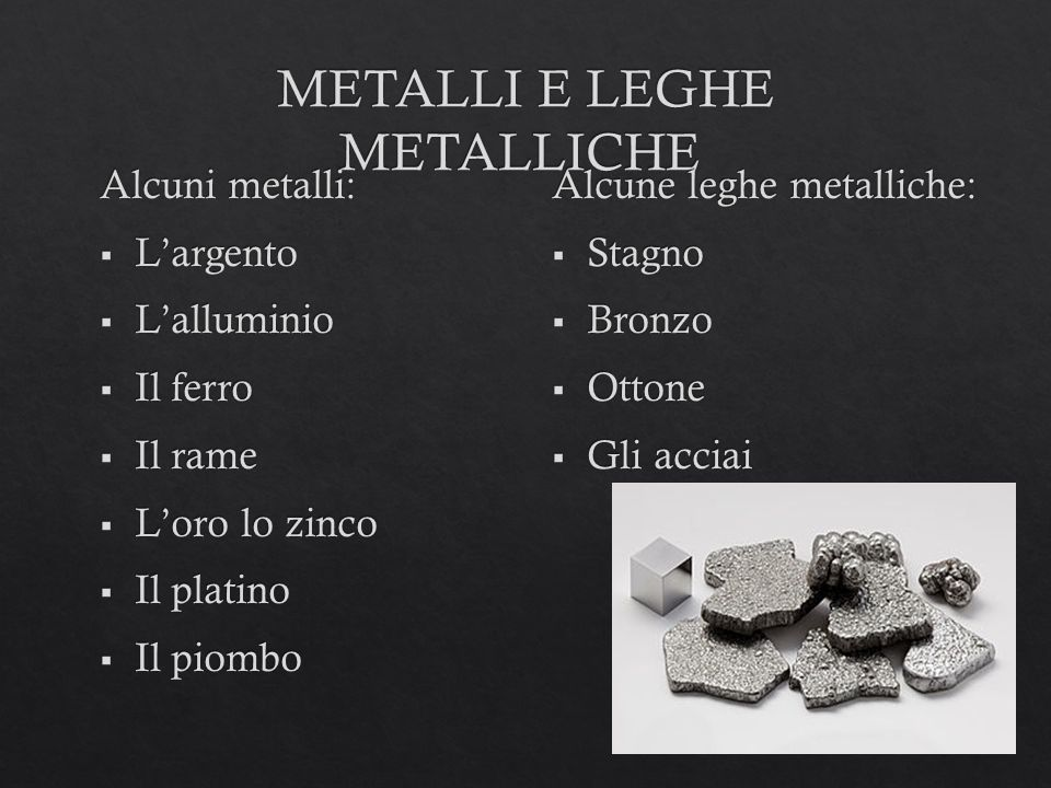 METALLI E LEGHE METALLICHE