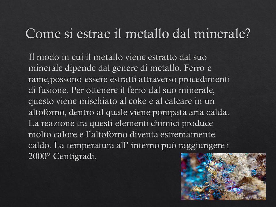 Come si estrae il metallo dal minerale