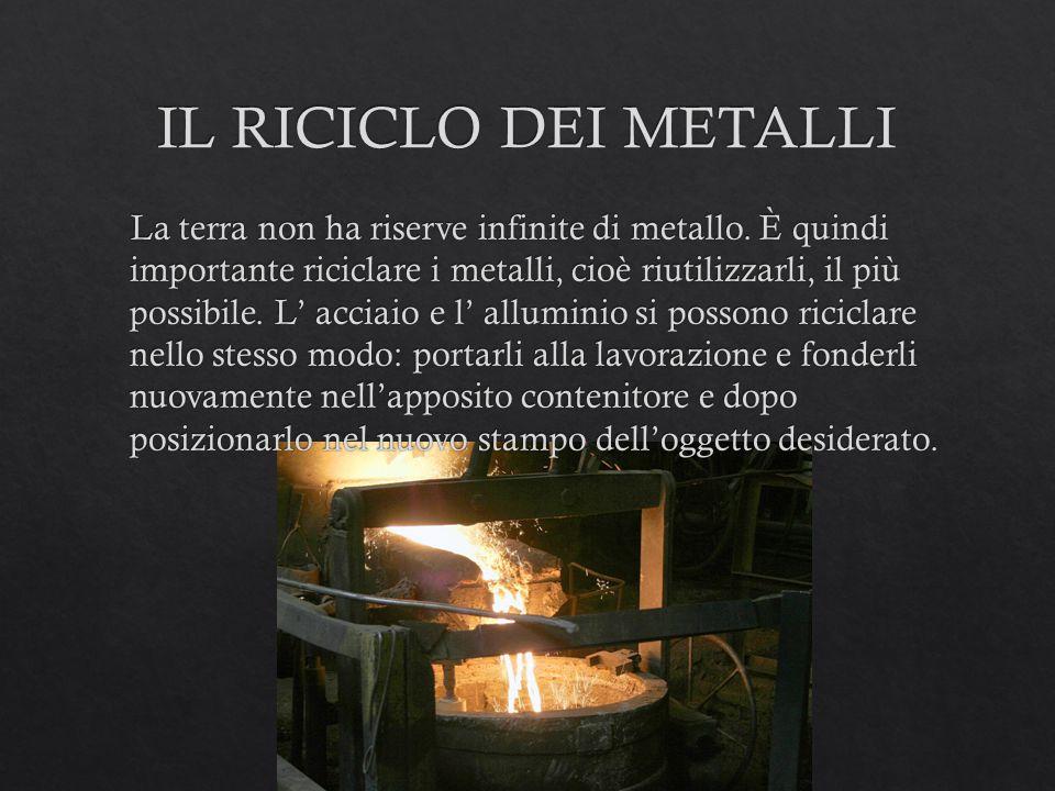 IL RICICLO DEI METALLI
