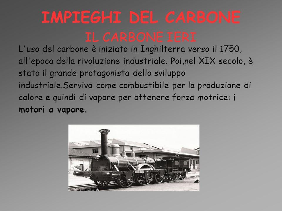 IMPIEGHI DEL CARBONE IL CARBONE IERI