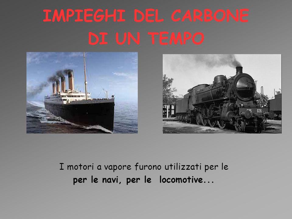 IMPIEGHI DEL CARBONE DI UN TEMPO